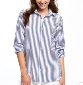 Old Navy classic button up striped shirt S